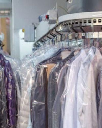 dry cleaning and laundry rack